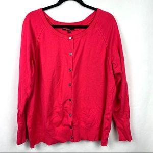 Lane Bryant Pink Button Down Cardigan Size 18/20
